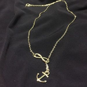 Jewelry - Anchor & infinity necklace never worn brand new!