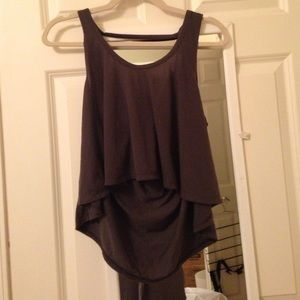Urban Outfitters High Low Tank With Open Back