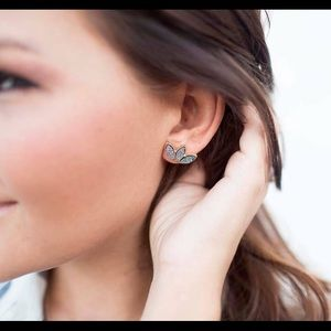 Perry Street Jewelry - Grey Druzy earrings