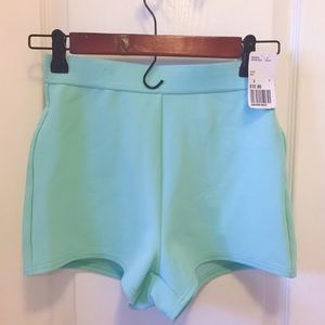 Forever 21 high-rise mint shorts