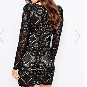 ASOS Dresses - Love Triangle V Neck Mini Dress In All Over Lace 0594e65f6