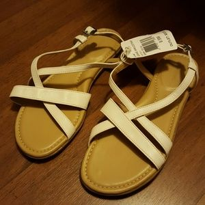 Rockport Shoes - Brand New Rockport Leather White Sandals sz 9.5 M