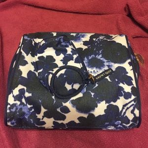 Estee Lauder Handbags - Estée Lauder blue flower cosmetic bag