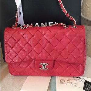 CHANEL Handbags - 🎉low $ 🎉 Authentic Chanel caviar single flap SHW
