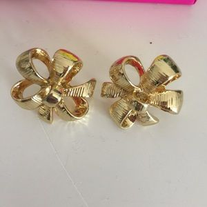 Lilly Pulitzer Jewelry - Gold Bow Tie Lilly Pulitzer Earrings