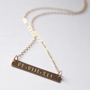 LucyMint Jewelry - Personalized Roman Numeral Necklace