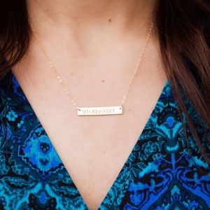 Personalize your necklace! Roman Numeral Necklace