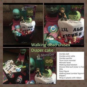 Walking dead unisex diaper cake