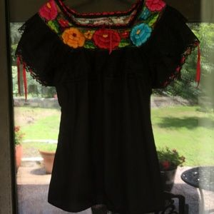 Guatemalan Embroidered Top