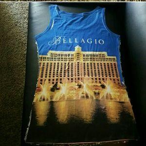 Bellagio Tops - Bellagio Sequin Tank Las Vegas Top