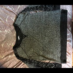 Maurice's grey/black sweater