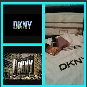 LUX beautiful DKNY lamskin leathet bag...