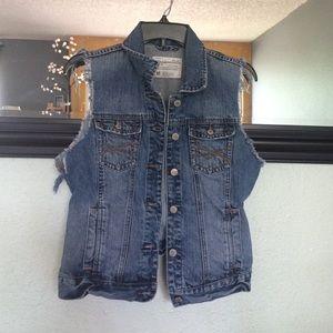 Aeropostale Jackets & Blazers - Button up jean vest
