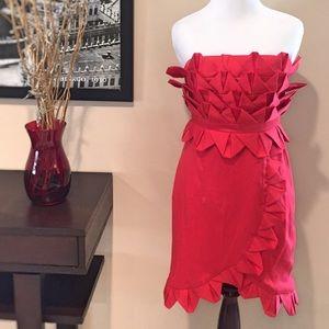 AKIRA Dresses & Skirts - Akira Unique Red Strapless Dress