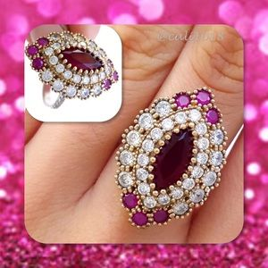 Glam Squad 2 You Jewelry - 🆕Ruby & Topaz .925 Stamped Turkish Ring 7.5