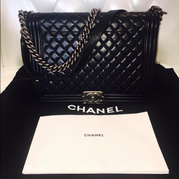 fb546417714833 CHANEL Bags | Large Le Boy Silver Hardware With Dustbag | Poshmark