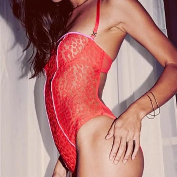 5971e0feadcf9 Victoria's Secret Red leopard print teddy! 34B NWT