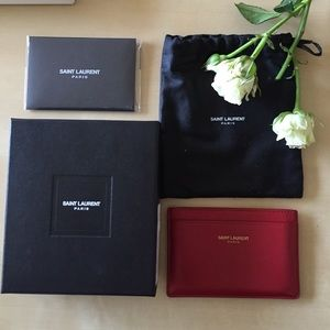 Saint Laurent Handbags - Authentic Saint Laurent card case