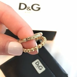 708fc704 D&G Jewelry | New Dg Dolce And Gabbana Gold Plated Ring Set Nwt ...