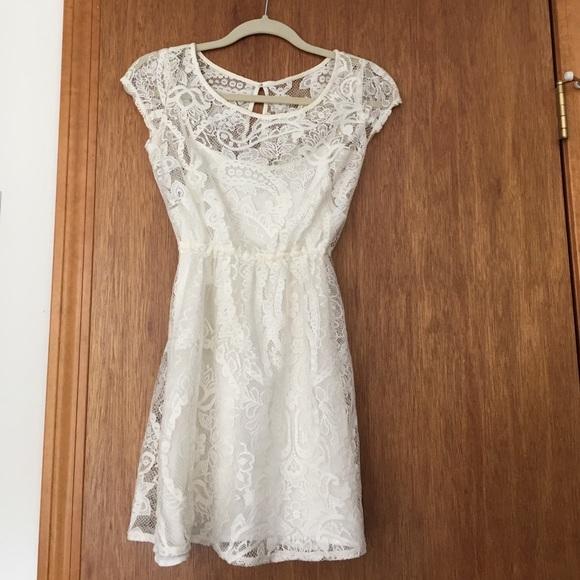 78 off hollister dresses amp skirts cream lace hollister