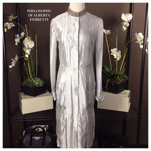 Philosophy di Alberta Ferretti Dresses & Skirts - NWT PHILOSOPHY DI ALBERTA FERRETTI SILVER DRESS