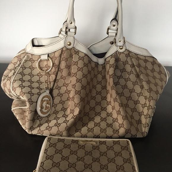 aefd173f800eff Gucci Bags | Monogram Large Sukey Tote | Poshmark