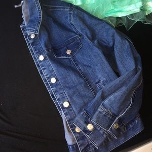 Jaclyn smith Jean jacket