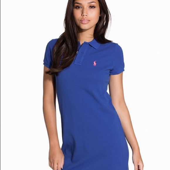 dd101bfcd1 Royal blue Polo dress with orange symbol. 💕
