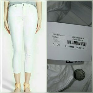 Paige Jeans Denim - Paige Verdugo Crop Optic White Skinny Ankle Jean