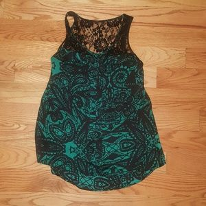 Women's S Silk/lace Express tank