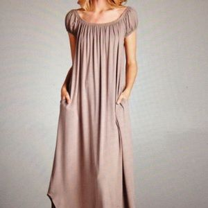 Dresses & Skirts - OFF THE SHOULDER MAXI DRESS-PRICE IS FIRM