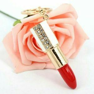 ❤SALE❤Lipstick rouge Crystal Rhinestone pendant