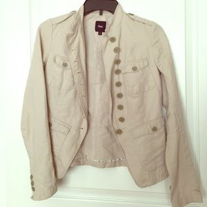 Gap military style khaki jacket
