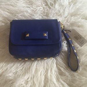 Hearts Handbags - Blue Studded Bag