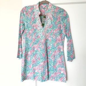 New Lilly Pulitzer Lobster Roll Tunic