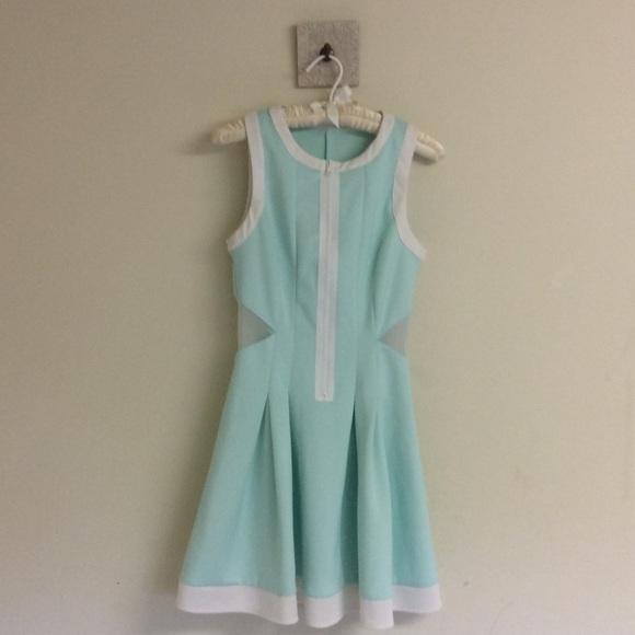 Dollskill Dresses & Skirts - Pleated Dress with Mesh Panels