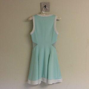 Dollskill Dresses - Pleated Dress with Mesh Panels