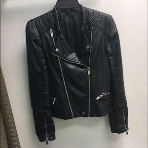 Jackets & Blazers - SOLD Faux Leather Motorcycle Jacket