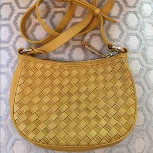 Cole Haan Handbags - 🛍 Cole Haan Yellow Leather Basket Cross Body