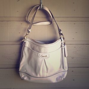 Coach Park White Leather Crossbody