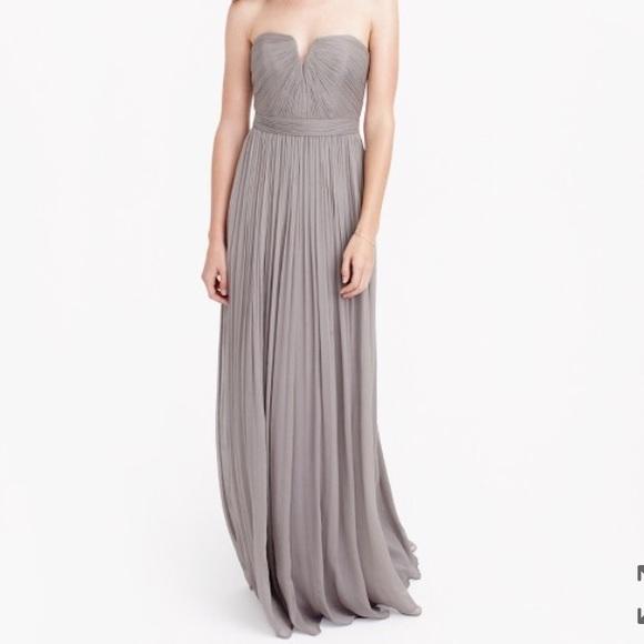 J. Crew Dresses | J Crew Nadia Long Dress In Silk Chiffon | Poshmark