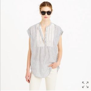 J.Crew Gauze Tunic in Stripe