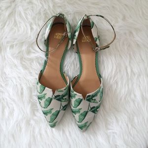 Anthropologie Leap Print Flats by Jasper and Jeera