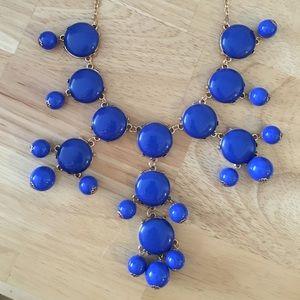 Blue JCREW-style bubble necklace