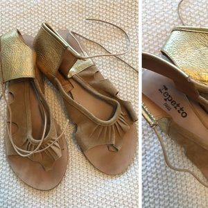 Repetto Shoes - Repetto Genuine Suede and Leather Sandals