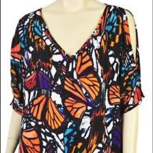 Thalia Sodi Cold Shoulder Butterfly Blouse