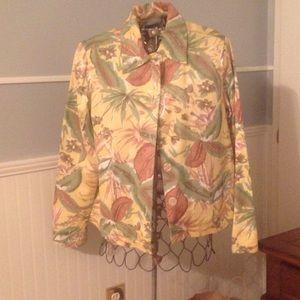 Lightweight cotton and rayon jacket/blazer