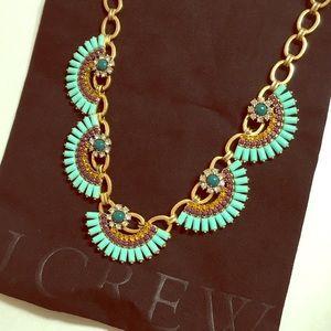 J. Crew Jewelry - J.Crew fan crystal flower necklace beaded