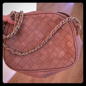 Handbags - Dusty rose chain quilted handbag