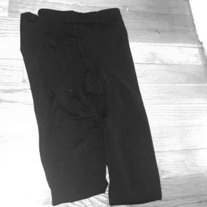Plush Accessories - Black Fleece-Lined Tights
